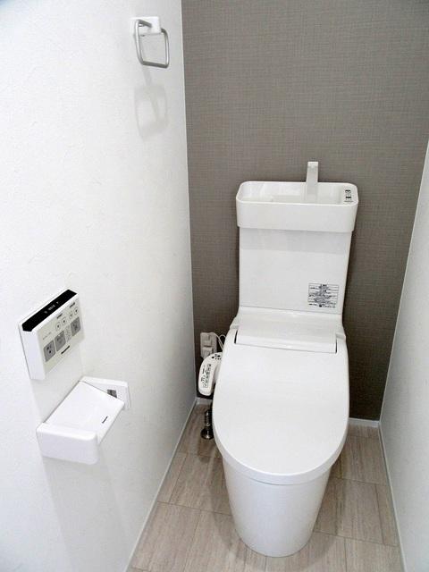 2階の温水洗浄式トイレ